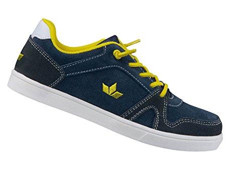 Lico Domain Kinder Freizeitsneaker in Blau/Gelb aus echtem Leder Marine