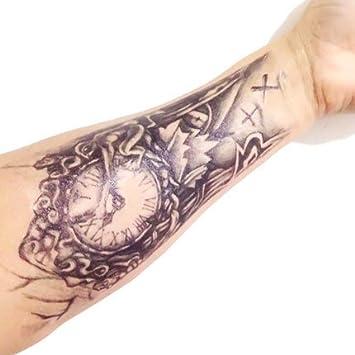 Stickers De Tatouage Temporaire Pour L Art Corporel Horloge