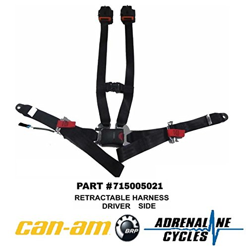 Can Am Maverick X3 Driver Side Retractable 4 Point Harness OEM NEW #715005021 ()
