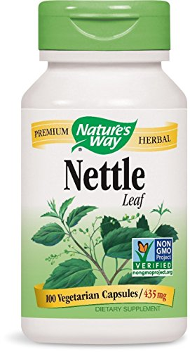 Nature s Way Nettle Leaf 435 mg, TRU-ID Certified, Non-GMO Project, Vegetarian, 100 Count, Pack of 4