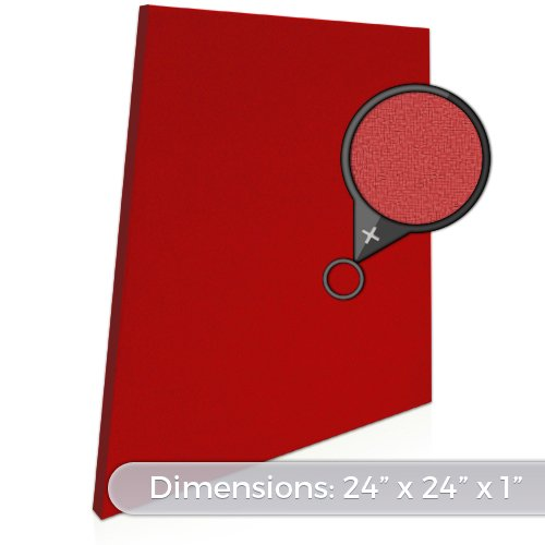 "Acoustic Panels – Trapezoid [See Many Color Options] 24""x24""x1"" High Absorption Sound Dampening Materials [Rated NRC .85] Sound Absorbing Fabric-Wrapped Decorative Acoustical Wall Panels"