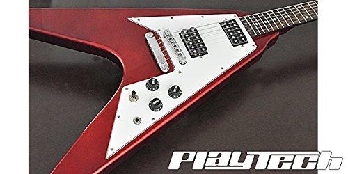 【国内正規品】 PLAYTECH プレイテック エレキギター FV430 METALLIC RED B01N6O72MN