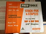 (2,200 Count) Pneu-Tools 922150 - 5/8'' Stack Pak 80 Series Flat Wire Staples With Caps