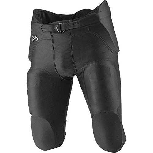 Rawlings F4500P Adult Integrated Football Pants (Black, Small) - Rawlings Football Pants