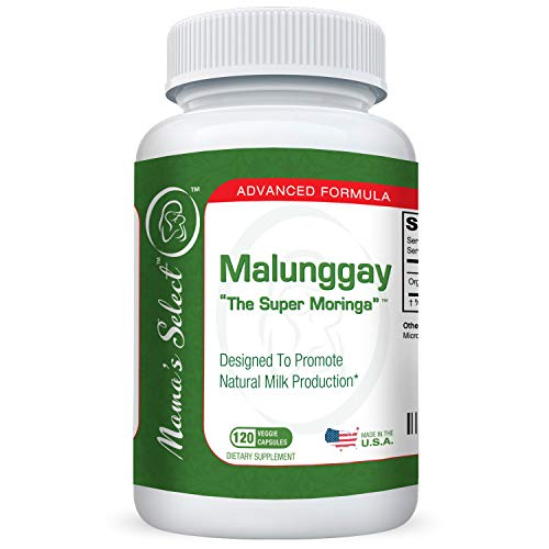 Malunggay by Mama's Select, 120 Veggie Capsules, 100% Organic Moringa Powder Herb, Formulated for Breast Feeding Mothers, Nursing Supplement Supports Lactation, 350 mg per Capsule (Best Powder Milk For Babies In Philippines)