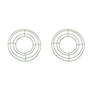 Metal Wreath Form - Green - 8 inches - Pack of 2 52