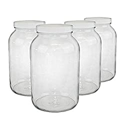 1-gallon USDA Fermentation Glass Jars, Set of 4