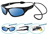 VATTER TR90 Unbreakable Polarized Sport Sunglasses For Kids Boys Girls Youth 816blackbluelense