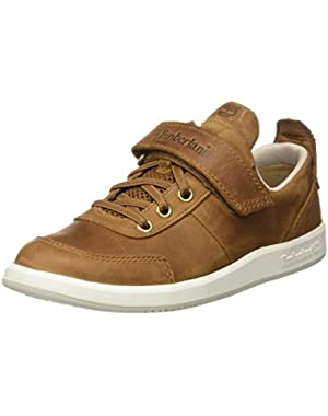 Court Side Oxford Medium Brown Leather Junior Boat Shoes