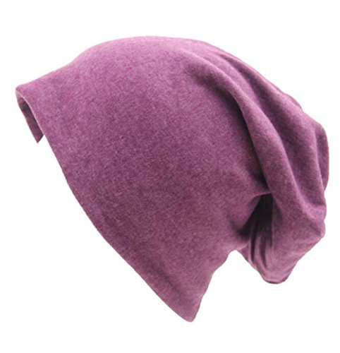 Century Star Unisex Baggy Lightweight Hip-Hop Soft Cotton Slouchy Stretch Beanie Hat Fuchsia]()