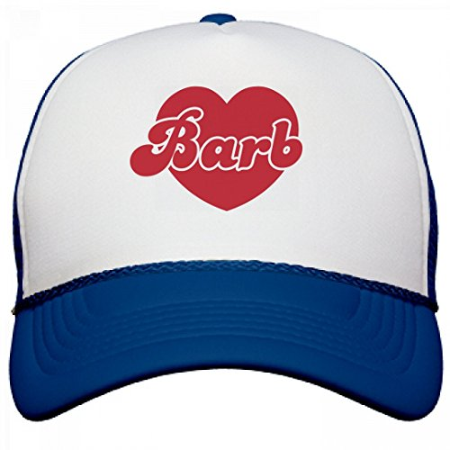 Netflix Show Costumes (Barb in a Heart: Dustin's Hat: OTTO Poly-Foam Snapback Trucker Hat)