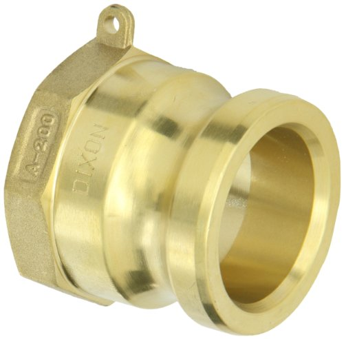 Dixon G200-A-BR ASTMC 38000 Forged Brass Global Type A Cam and Groove Hose Fitting, 2