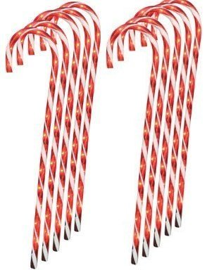 (Lighted Candy Cane Pathway Markers (28