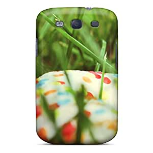 Galaxy S3 Case Slim [ultra Fit] Donut Grass Food Protective Case Cover