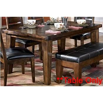 Amazon.com - Burnished Dark Brown Dining Table - Tables