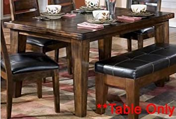 Superior Burnished Dark Brown Dining Table