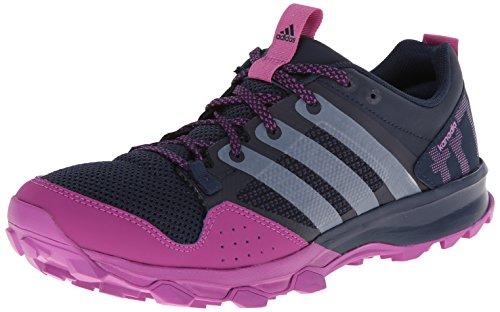 Kanadia Adidas Trail Running 7 al aire libre del zapato - Ceniza púrpura / negro / color de rosa ne Collegiate Navy/Running White/Lucky Pink