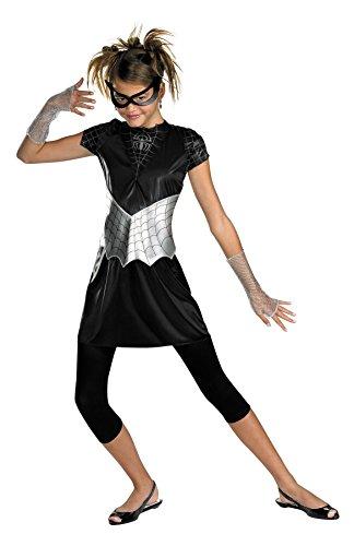 Morris Costumes SPIDER GIRL BLACK SUITED 10-12 (Shrek Costume Ideas)