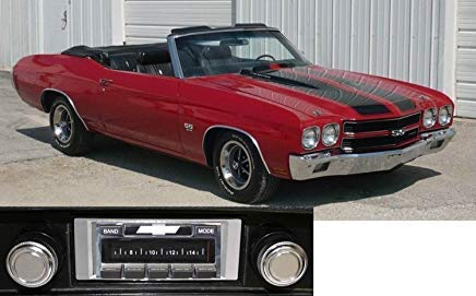 Custom Autosound Car Stereo Compatible with 1969-1972 Chevelle Malibu, USA-630 II High Power 300 watt AM FM Radio with Auxiliary Input