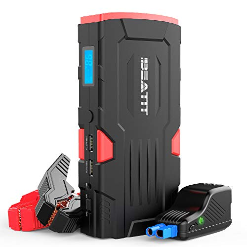 Learn More About Beatit D11 800Amps QDSP 18000mAh Peak 12V Car Jump Starter (Up to 7.5L Gas and 5.5L Diesel) Portable Power Bank Auto Battery Booster with Intelligent Jumper Cables