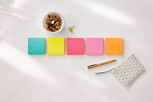 Post-it Super Sticky Notes, Bright Neons, Sticks and Resticks, Great for Reminders, 3 in. x 3 in, 68 Pads/Pack, (654-24SSMIA-CP) (68 Pads) by Post-it (Image #5)