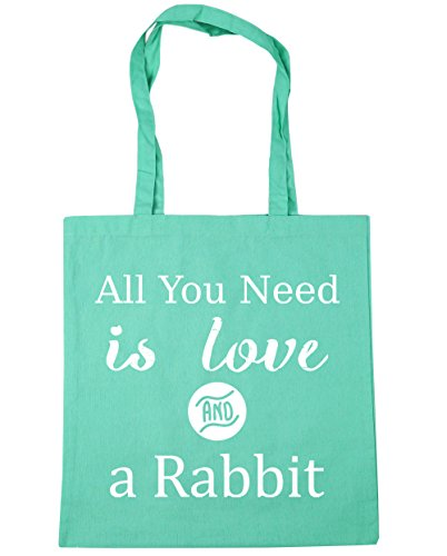 a litres Rabbit 10 Gym Shopping Tote is All Love x38cm and Bag You 42cm HippoWarehouse Mint Need Beach UaYgxq