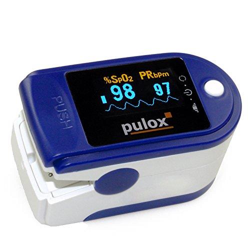 Pulsoximeter PULOX PO-200 SPO2 Pulsoximeter mit OLED Farbdisplay und Zubehör