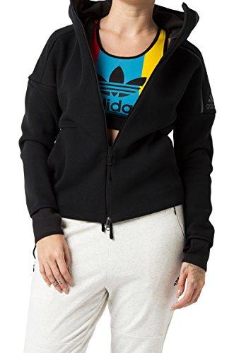 adidas Women's ZNE Hoodie, Black, Large