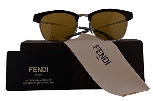 Fendi Authentic Sunglasses FF0228/S Brown Silver w/Brown Lens 4ES70 FF 0228/S F0228/S FF0228S F0228S (50mm)