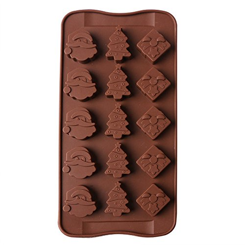 Chrismas Decorating Silicone Cake Decorating Moulds Candy Cookies Chocolate Baking Mold (Chocolate Lava Cake Delivery)