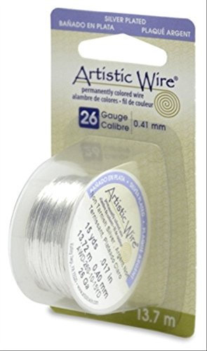 Artistic Wire 26-Gauge Tarnish Resistant Silver Wire, 15-Yard ()