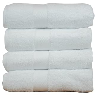 Luxury Hotel & Spa Towel Turkish Cotton & Bamboo Rayon (White, Bath Towel - Set of 4) (B00IPMO498) | Amazon price tracker / tracking, Amazon price history charts, Amazon price watches, Amazon price drop alerts