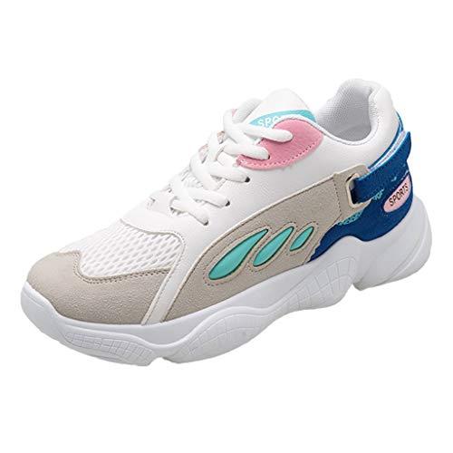 Bleu Baskets Chaussures Femmes De Manadlian Légère Travail Sécurité Randonnée Sport Été Chaussons Confortable Respirant Running fd6d1q0w