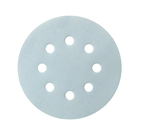 s 5-Inch 8-Hole Blue Granat Abrasives Dustless Hook and Loop Discs, Pack of 50 (400 grits) ()