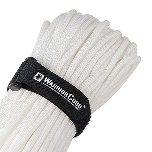 Titan WarriorCord   White   103 Continuous FEET   Exceeds Authentic MIL-C-5040, Type III 550 Paracord Standards. 7 Strand, 5/32'' (4mm) Diameter, Military Parachute Cord. by Titan Paracord (Image #1)