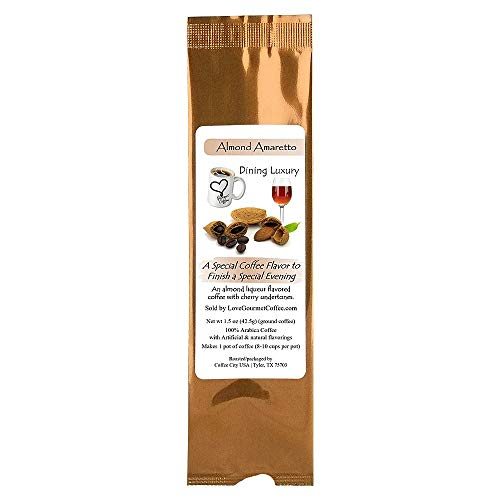 After Dinner Coffee Almond Amaretto Flavored a Gourmet Finish for Dining Pleasure