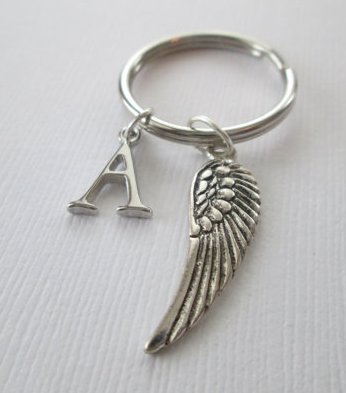 (Simple Angel Wing Keychain)