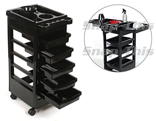 TekNoh - 6 Tier - Classic Salon Rolling Storage Trolley (****High Gloss Finish****) - Hairdressers Hairdressing Spa Hair Stylist Beauty Barber Cart Drawers Roller TR-01