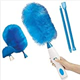 CHENGL Household Electric dust Collector Feather Duster Cleaning Brush Battery Powered Antistatic dust Collector with Flexible Head for Home Office car