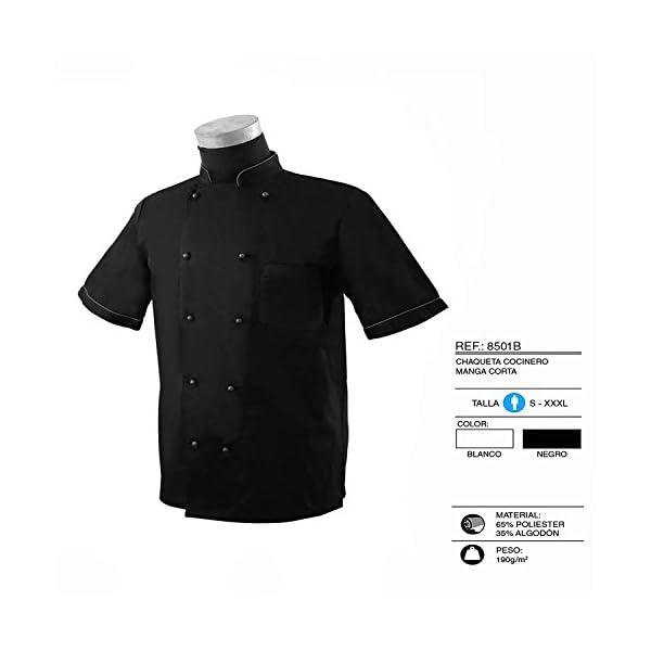 MISEMIYA Chaquetas Chef Bar Restaurante Cocinero Mangas Cortas Camisa de utilidades de Trabajo para Hombre 6