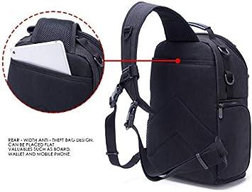 251536cm Cooralledtooere Photography Bag Waterproof and wear-Resistant Outdoor Casual Shoulder Diagonal Digital Camera Bag Color : Black