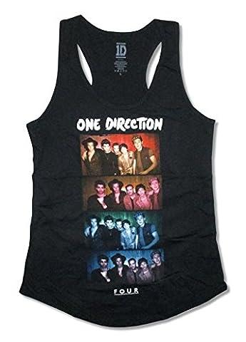 One Direction 4 Photo Image Girls Juniors Tank Top Shirt (L) (1 Direction Tour Shirt)