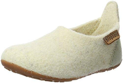 Bisgaard Wool Basic, Zapatillas de estar Por Casa Unisex Niños Elfenbein (44 Creme)