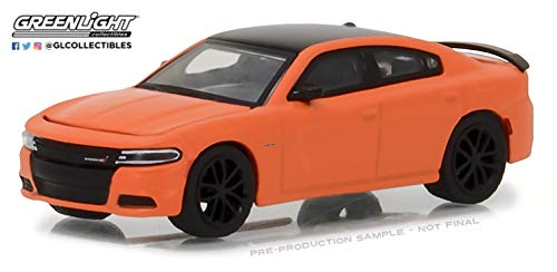 2017 Dodge Charger R/T Orange with Black Top Greenlight Muscle Series 20 1/64 Diecast Model Car by Greenlight 13210 F