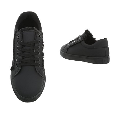 Piatto da Sneaker Donna 91 Design Nero Scarpe G Sneakers Low Ital qwEIXgtxn