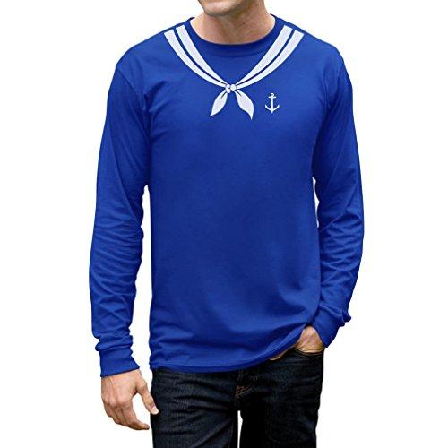 Tstars Men's - Bachelor Party Sailor Costume Long Sleeve T-Shirt Medium -