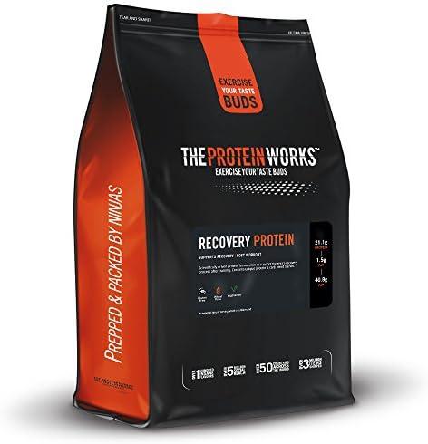 Recovery Protein / ERDBEER-SAHNE / von THE PROTEIN WORKS / 500g / Unterstützt Muskelreparatur und -wiederaufbau