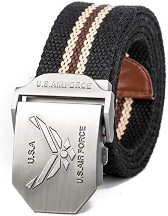WDYDDW Men'S Belt,Fashion Casual Canvas Belt Usa Air Force
