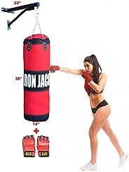 Iron Jack Punching Bag Training Heavy Bag Unfilled Sandbag for Boxing, MMA, Karate, Muay Thai, Kick Boxing, Ma