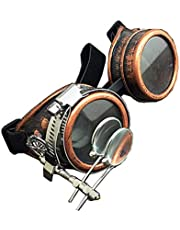 New Vintage Steampunk Goggles With Double Ocular Gothic Retro Glasses Punk Cosplay